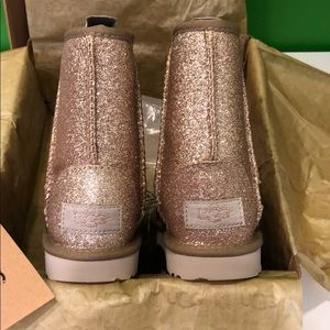 UGG Shoes - Ugg Kids Classic Short Gold Glitter Boot